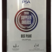 PSA Supplier Awards Best plant 2018